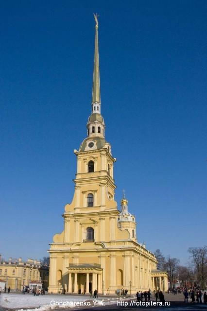Петропавловский собор. Архитектор Д.Трезини