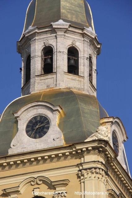 Колокольня и куранты Петропавловского собора